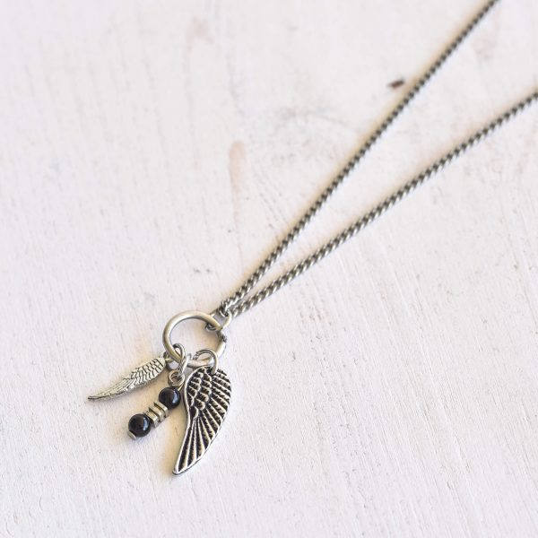 Men's Necklace - Men's Silver Necklace - Men's Wing Necklace - Men's Jewelry - Men's Gift - Men's Pendant - Boyfriend Gift - Husband Gift - Male Jewelry